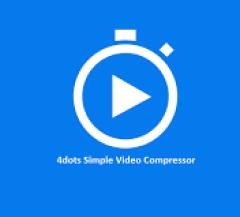 4dots Simple Video Compressor V3.5 Key + Crack Free Download
